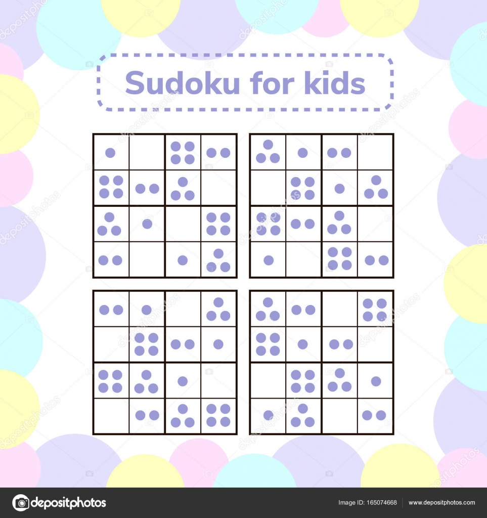 Vector Illustration. Sudoku Game For Children With Pictures encequiconcerne Jeu Le Sudoku