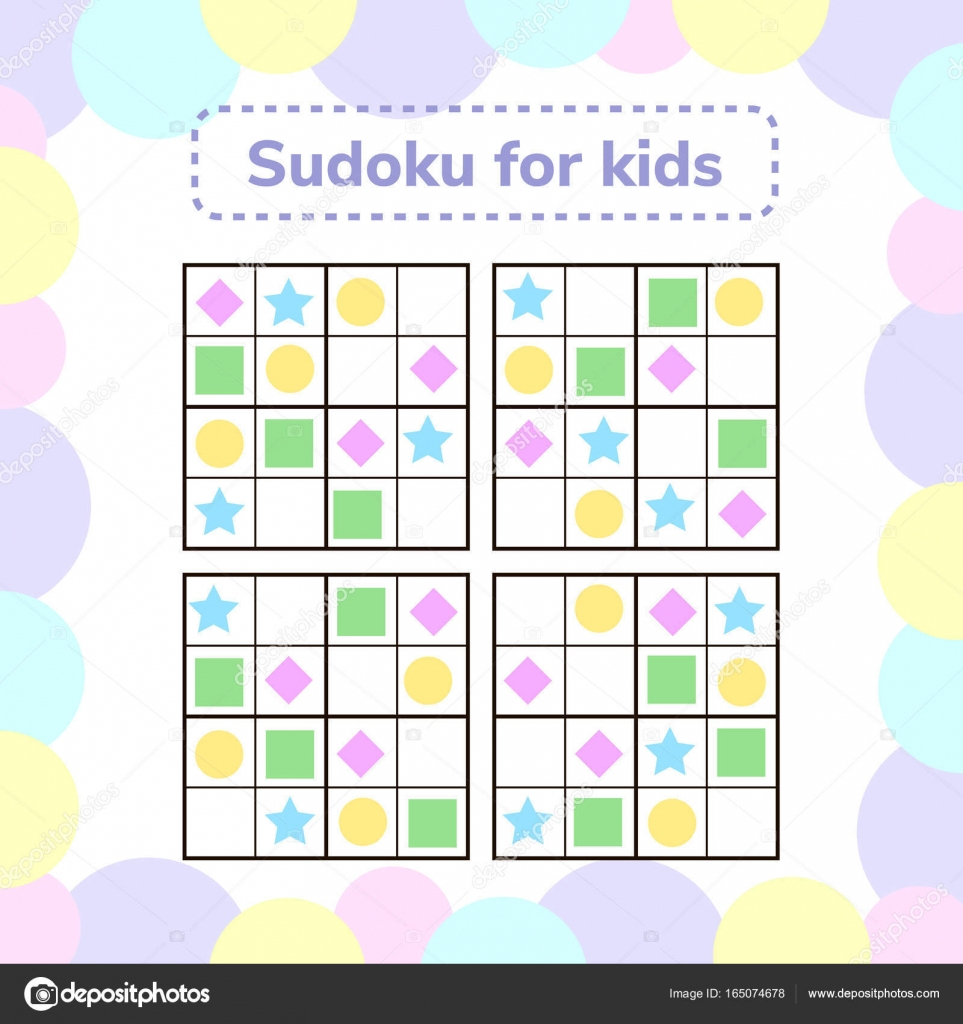 Vector Illustration. Sudoku Game For Children With Pictures encequiconcerne Sudoku Pour Enfant