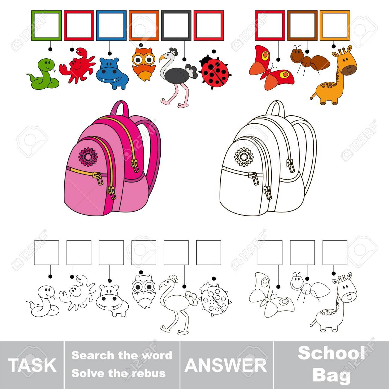 Vector Jeu Rebus Pour Les Enfants D'âge Préscolaire Avec Niveau De Jeu  Éducatif Facile Pour L'éducation Des Enfants Pendant Les Jeux, Trouver Une tout Jeux De Rebus