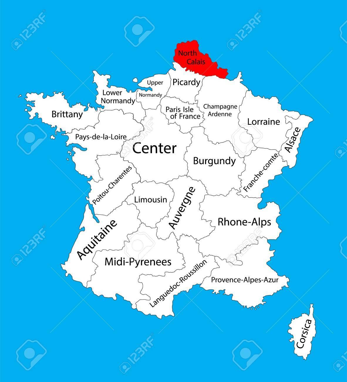 Vector Map Of Nord-Pas-De-Calais, France Region. France Vector.. tout Liste Region De France