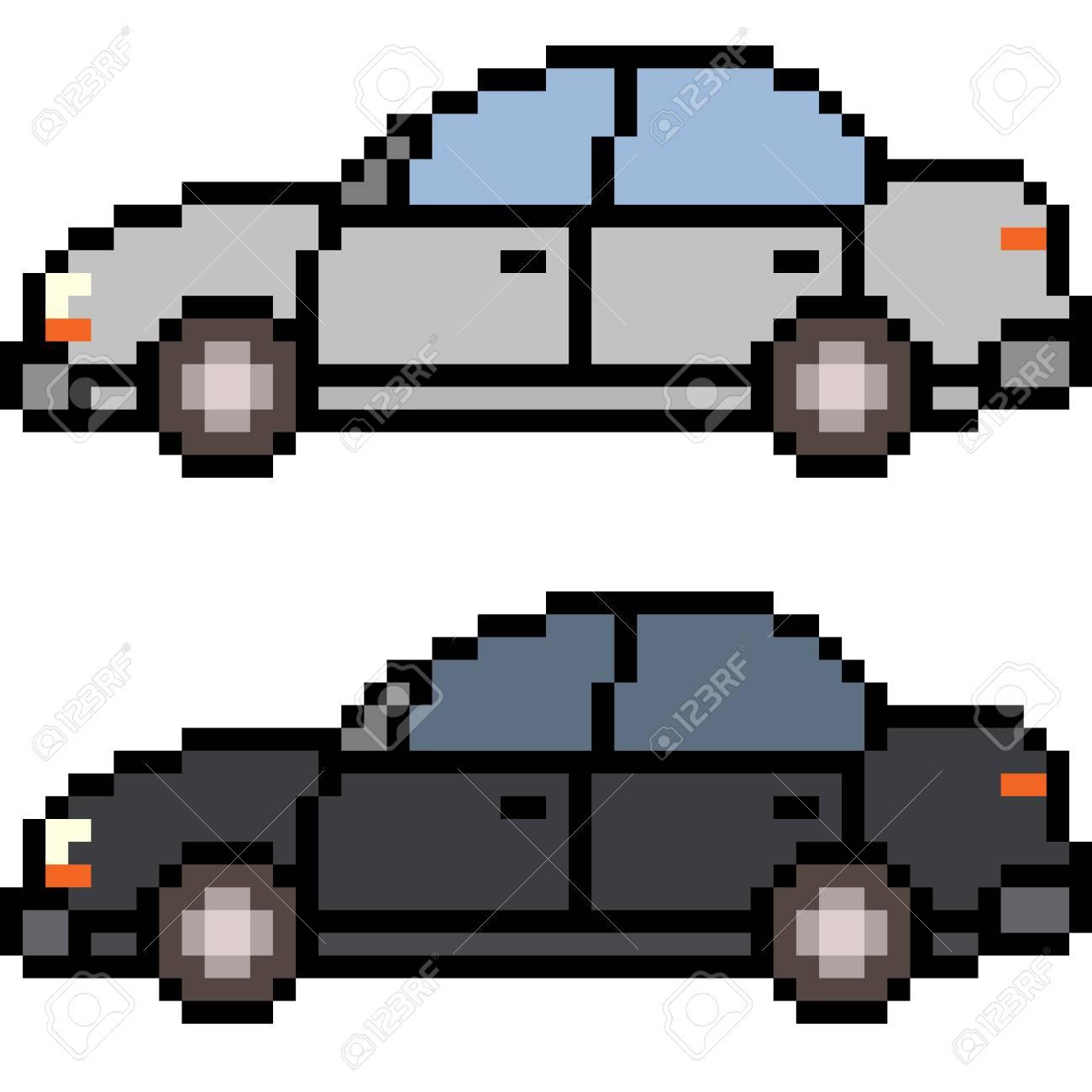 Vector Pixel Art Car Isolated concernant Voiture Pixel Art