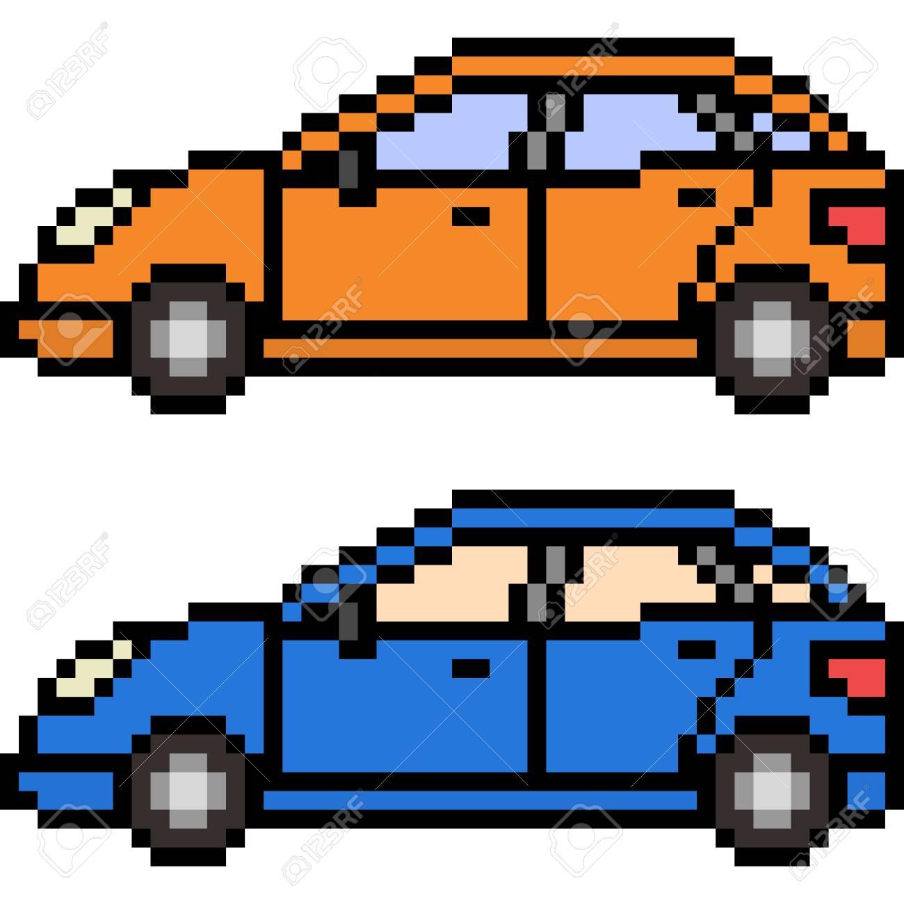 Vector Pixel Art Car Isolated dedans Voiture Pixel Art