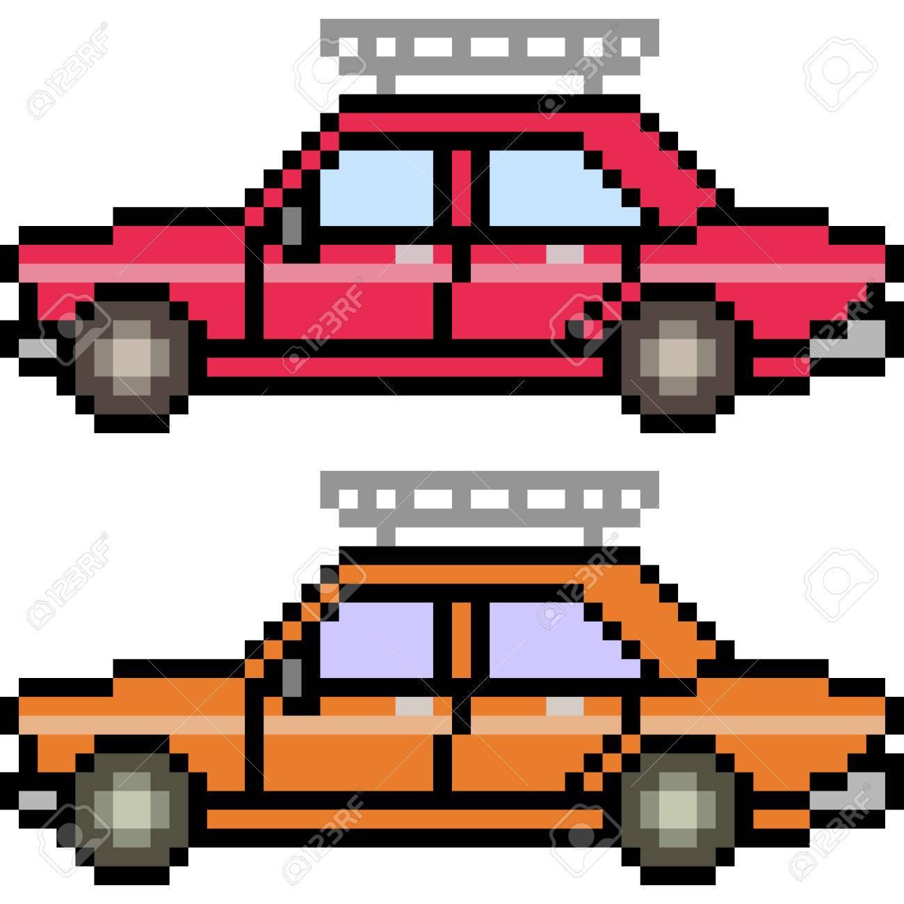 Vector Pixel Art Car Isolated tout Voiture Pixel Art