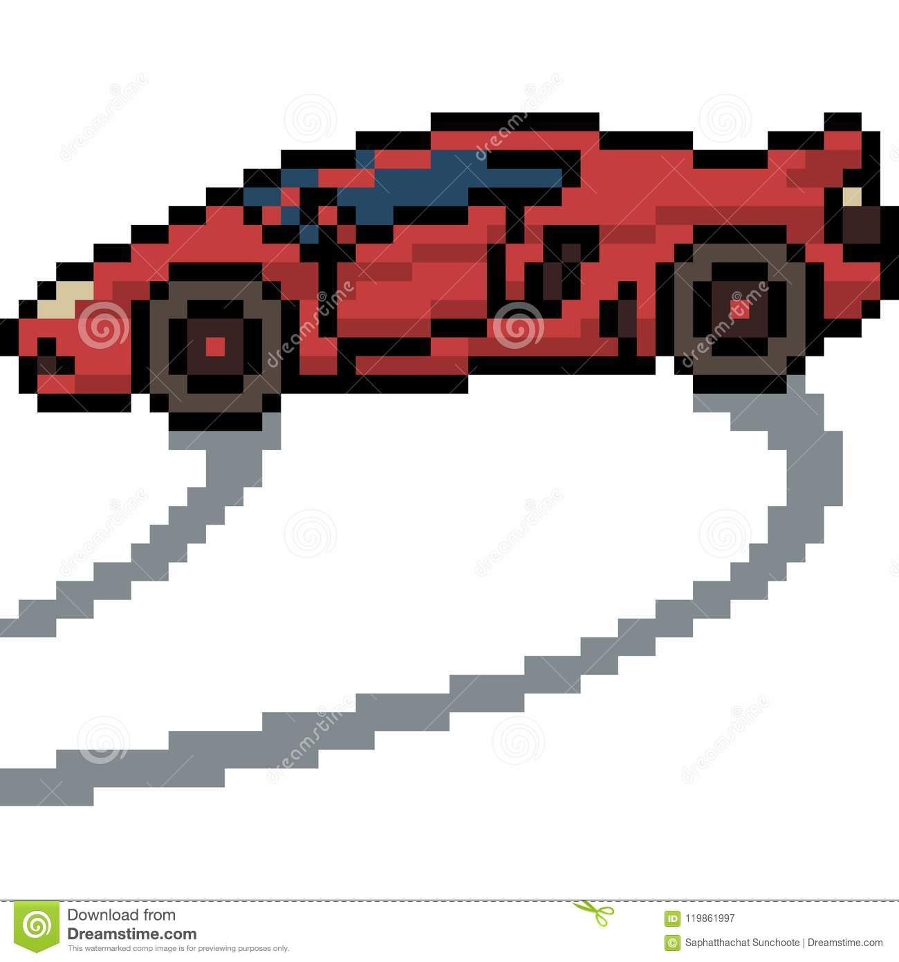 Vector Pixel Art Sport Car Stock Vector. Illustration Of avec Voiture Pixel Art