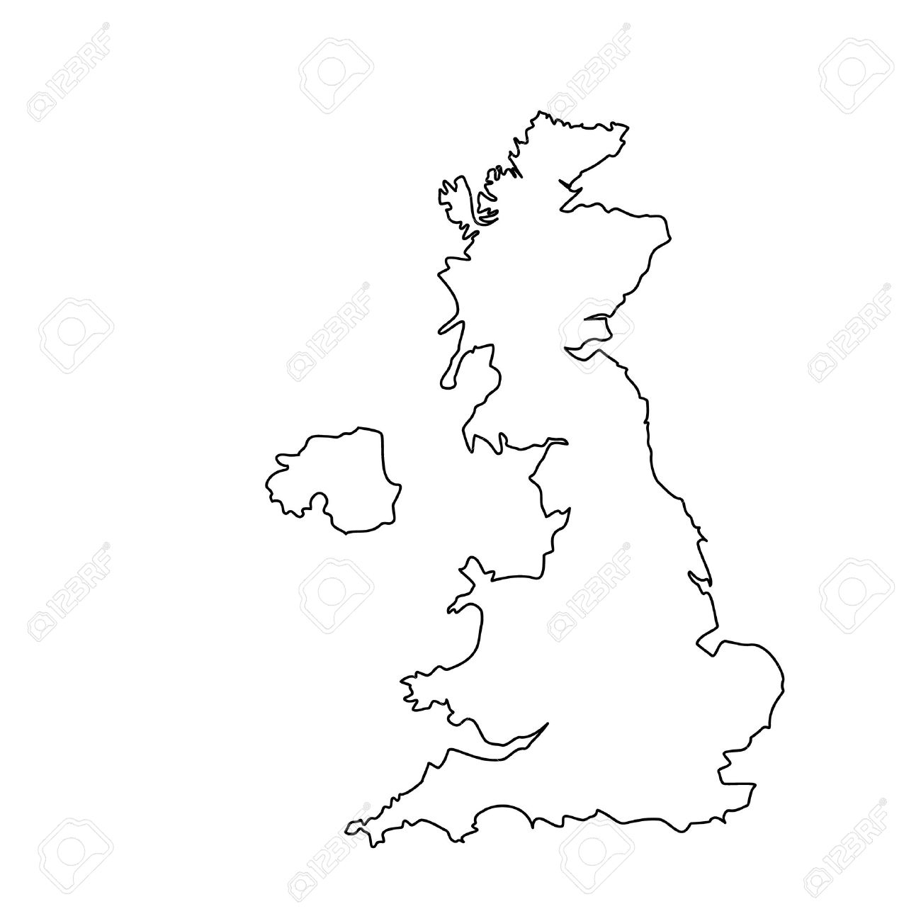 Vector Uk Carte Contour Dessin Illustration. Angleterre Icône Carte De  Ligne. Royaume-Uni De Grande-Bretagne. Uk Carte Comtés encequiconcerne Dessin De Angleterre