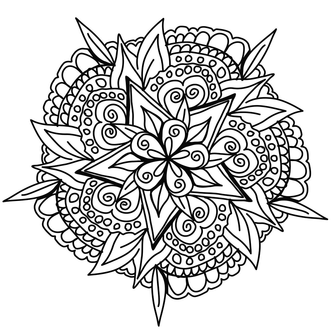 Vegetal Hand Drawn Mandala - Simple Mandalas - 100% Mandalas pour Dessiner Un Mandala