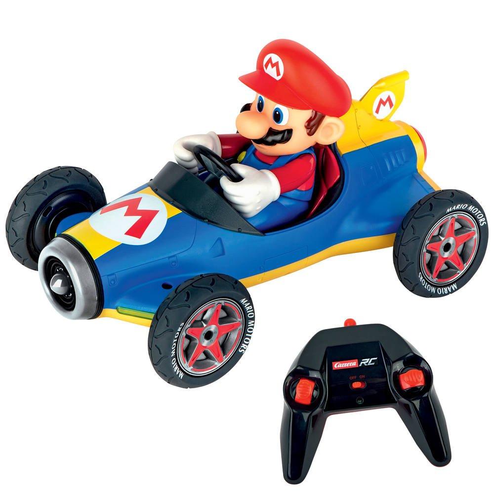 Vehicule Mario Kart Mach 8 Radio Commande 1:18 - Mario avec Voiture Requin Jouet