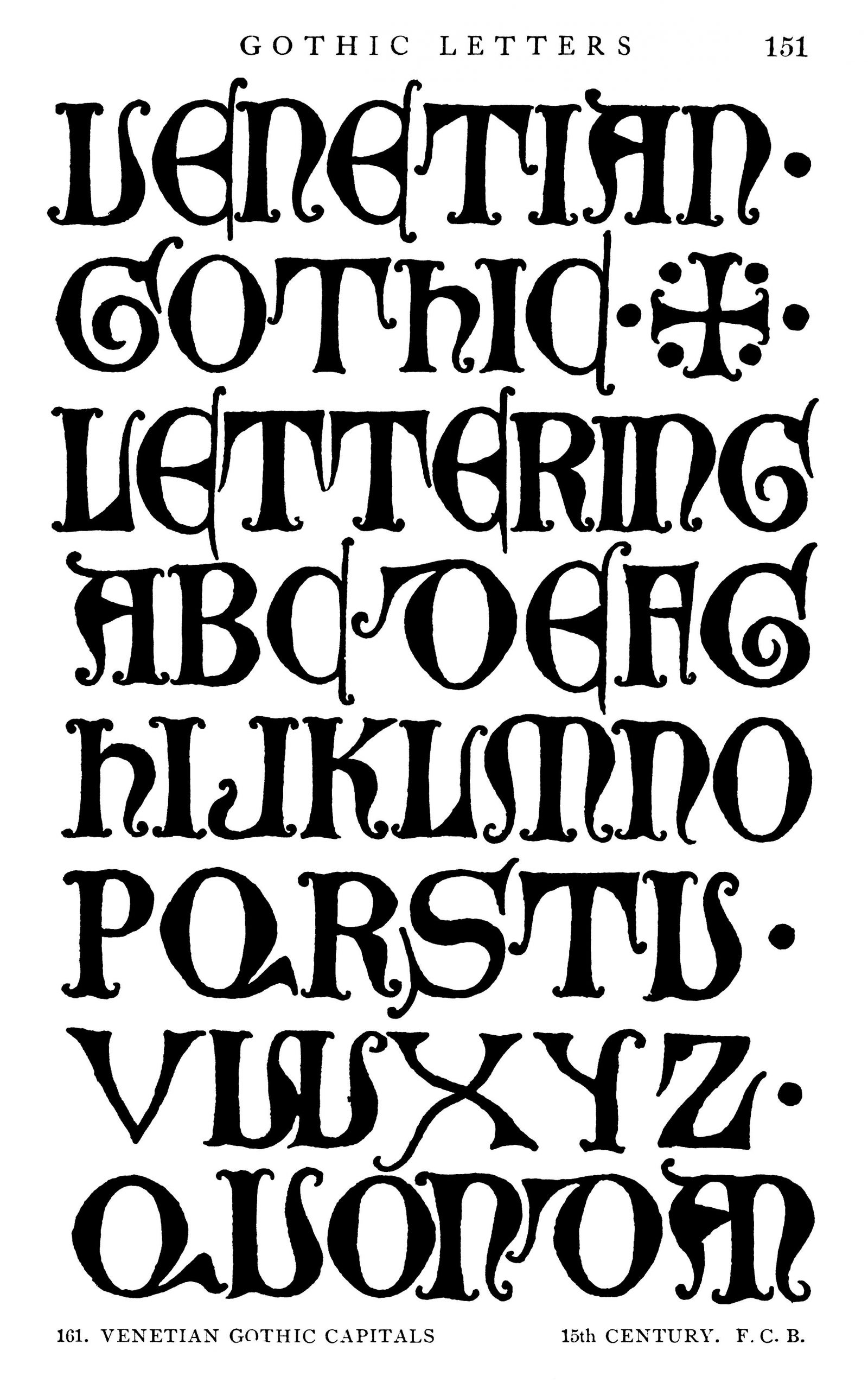 Vénitien Gothic Letter 15 Century | Lettrage tout Modele De Lettre Alphabet