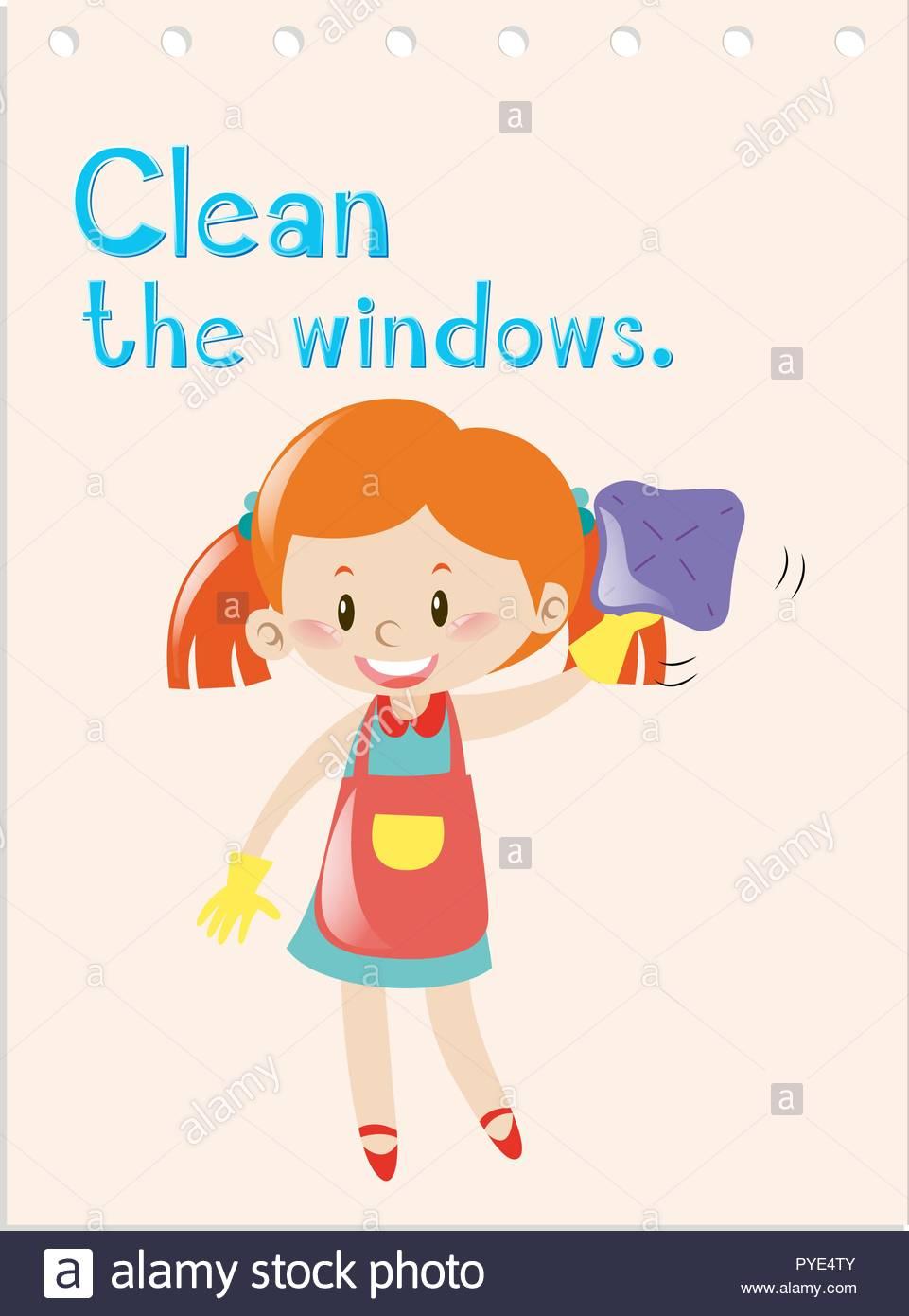 Verbe D'action Jeu De Fille Avec Nettoyage Windows intérieur Recherche De Jeux De Fille