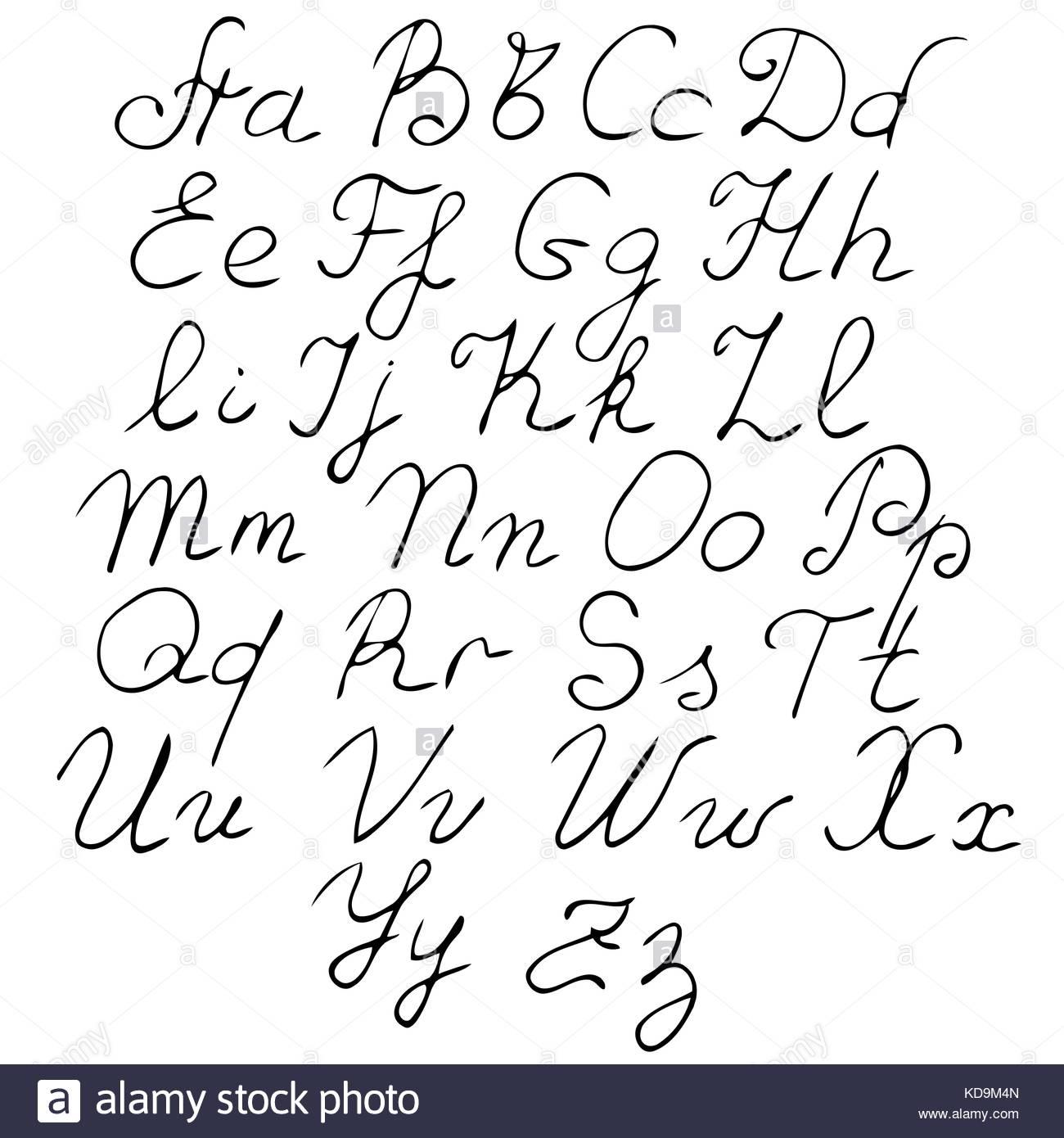 Véritable Vecteur De Part L'alphabet, Les Lettres Majuscules pour Alphabet Majuscule Et Minuscule