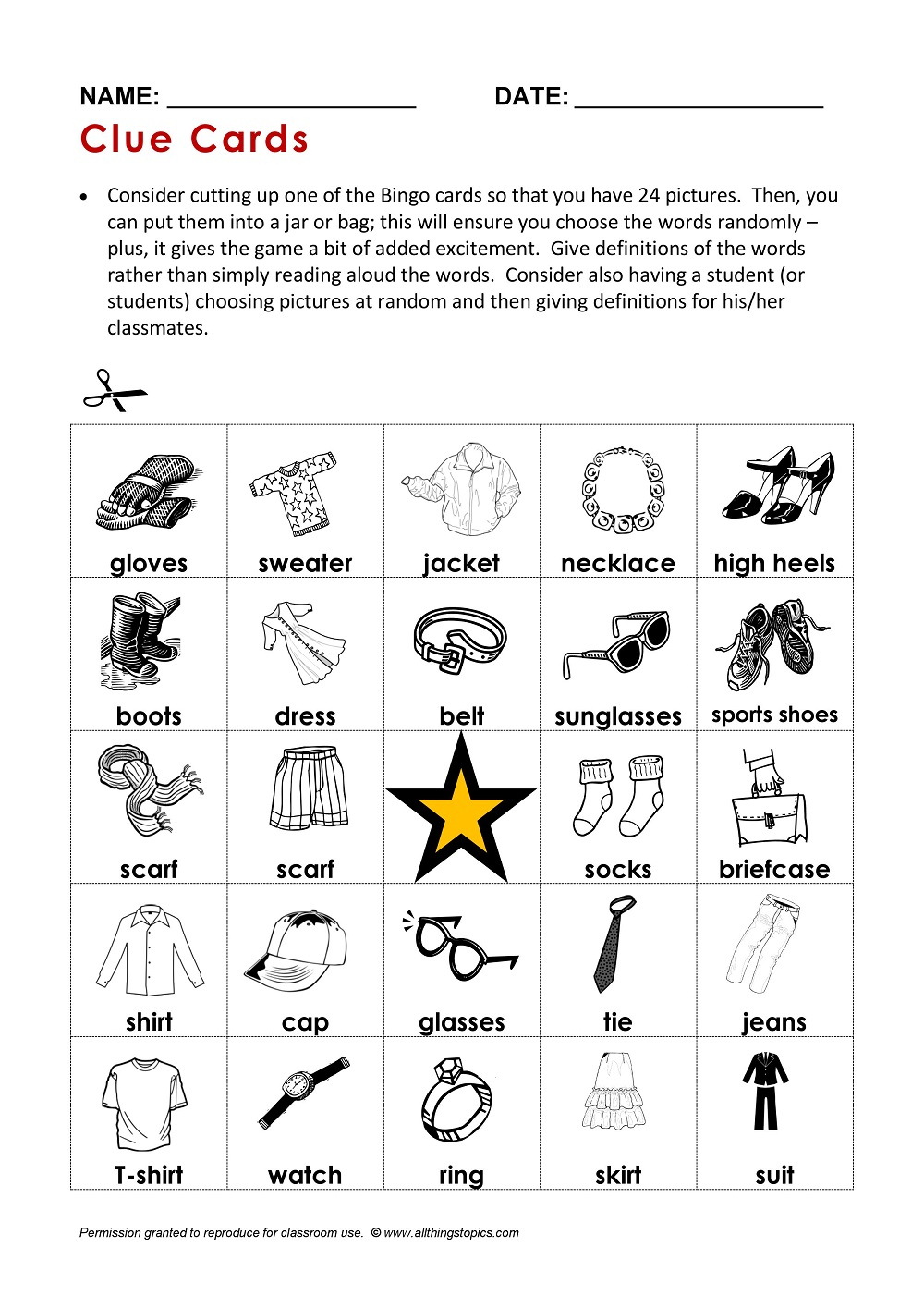 Vêtements En Anglais – My-Teacher.fr : Apprendre L'anglais intérieur Jeu En Anglais À Imprimer