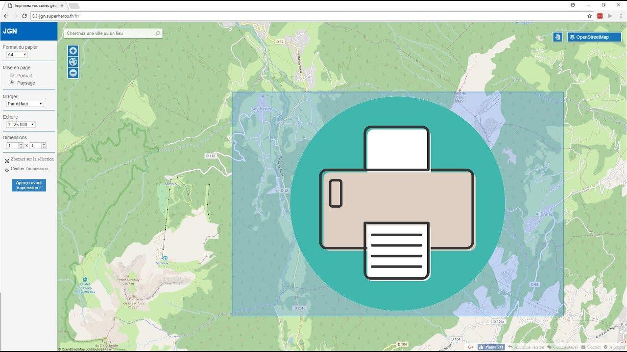 Vidéo] Comment Imprimer Facilement Une Carte Topographique tout Petite Carte De France A Imprimer