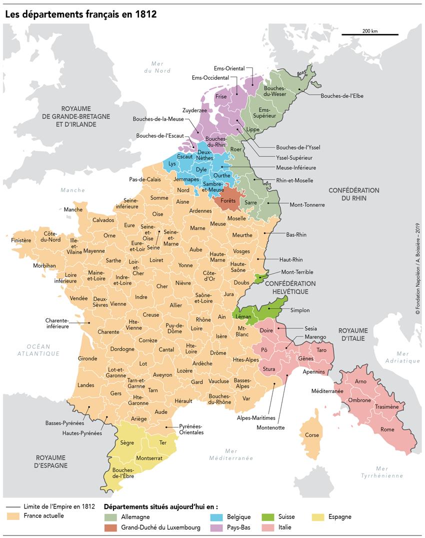 Vidéo Et Carte Des Départements > Napoléon Bonaparte Et L à Tableau Des Départements Français