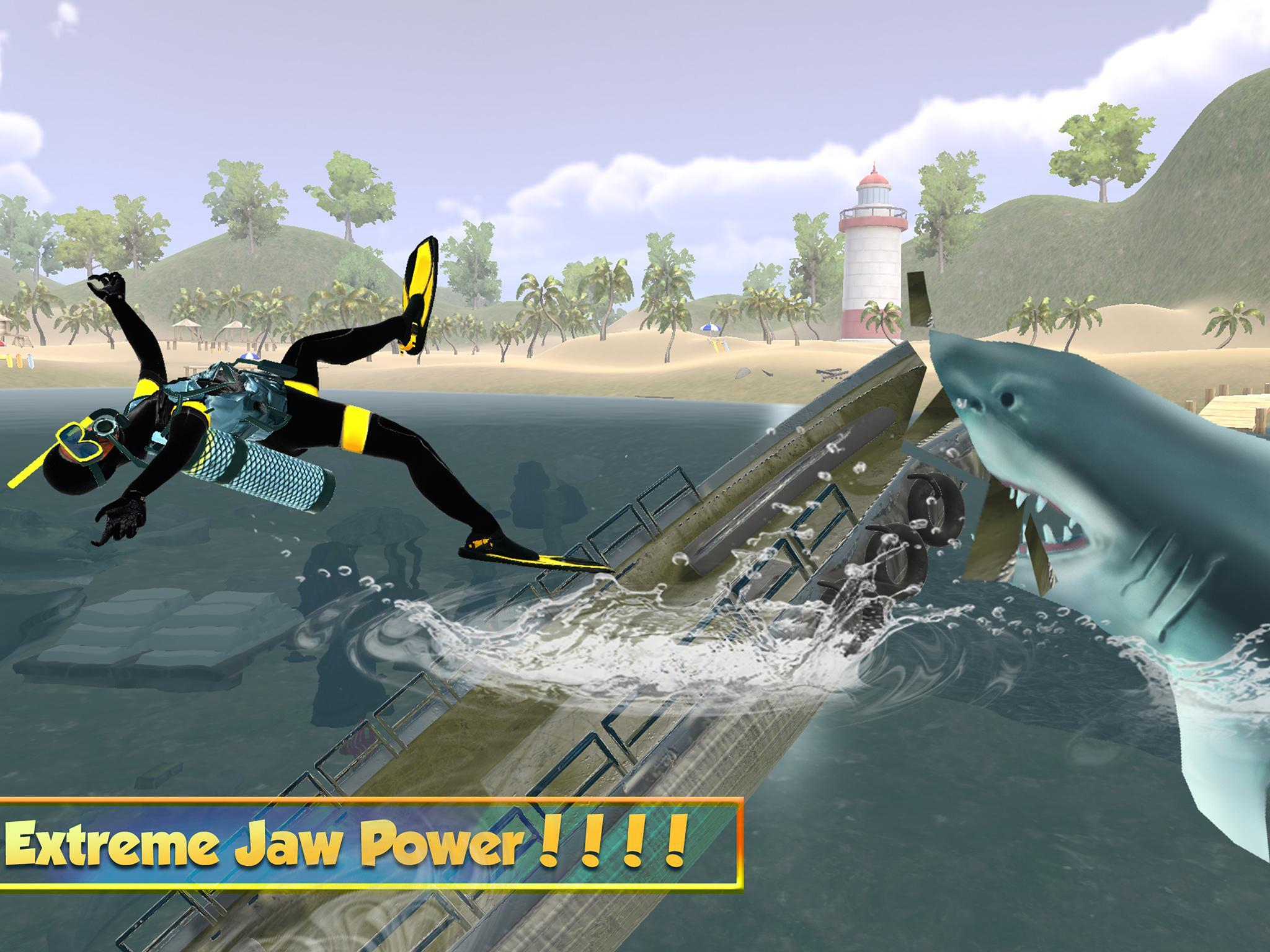 Vie Du Grand Requin Blanc: Simulation De Mégalodon Pour avec Requin Jeux Video