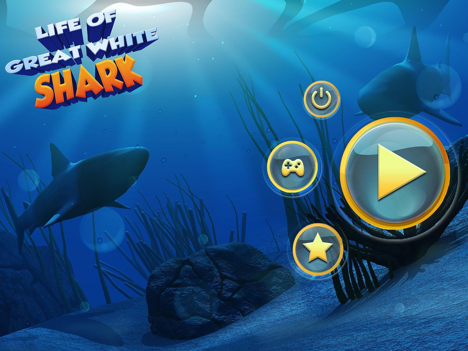 Vie Du Grand Requin Blanc: Simulation De Mégalodon Pour encequiconcerne Jeux Gratuit Requin Blanc