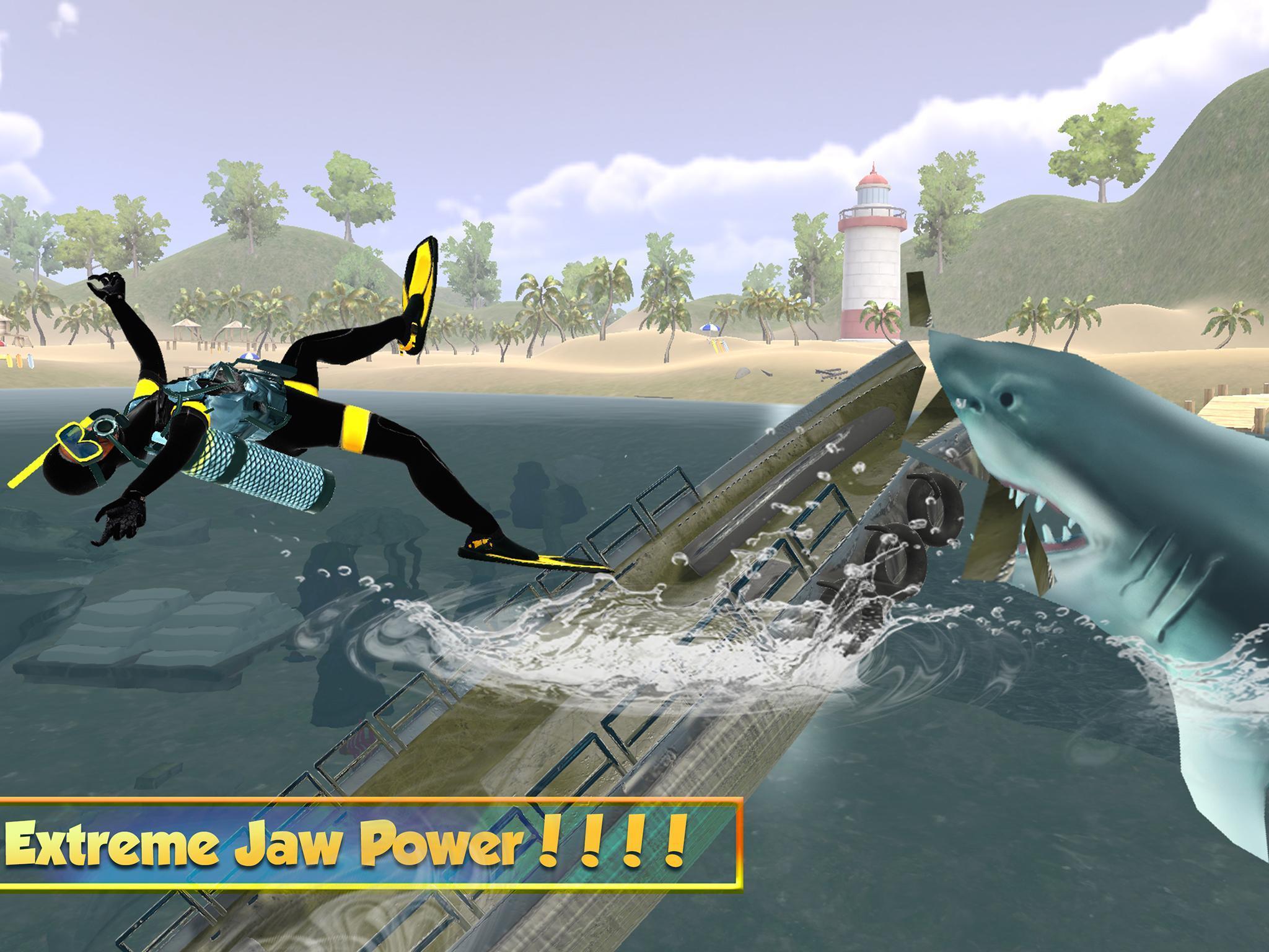Vie Du Grand Requin Blanc: Simulation De Mégalodon Pour intérieur Jeux Gratuit Requin Blanc