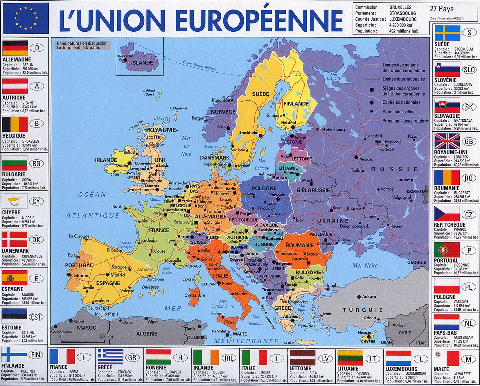Vie tout Capitale Union Européenne