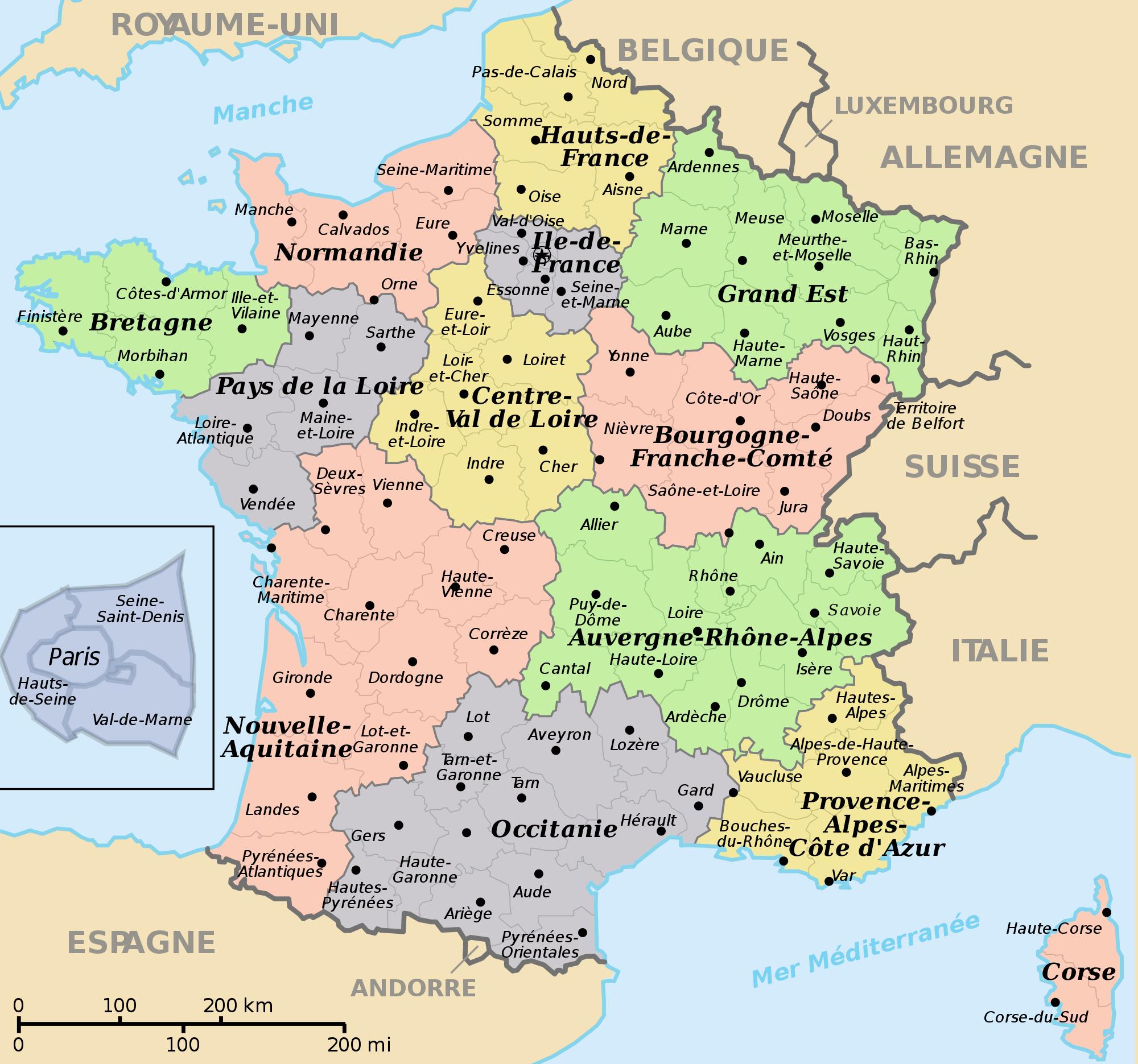 Vin: Un Quiz Bio Pour La Santé concernant Combien De Region En France