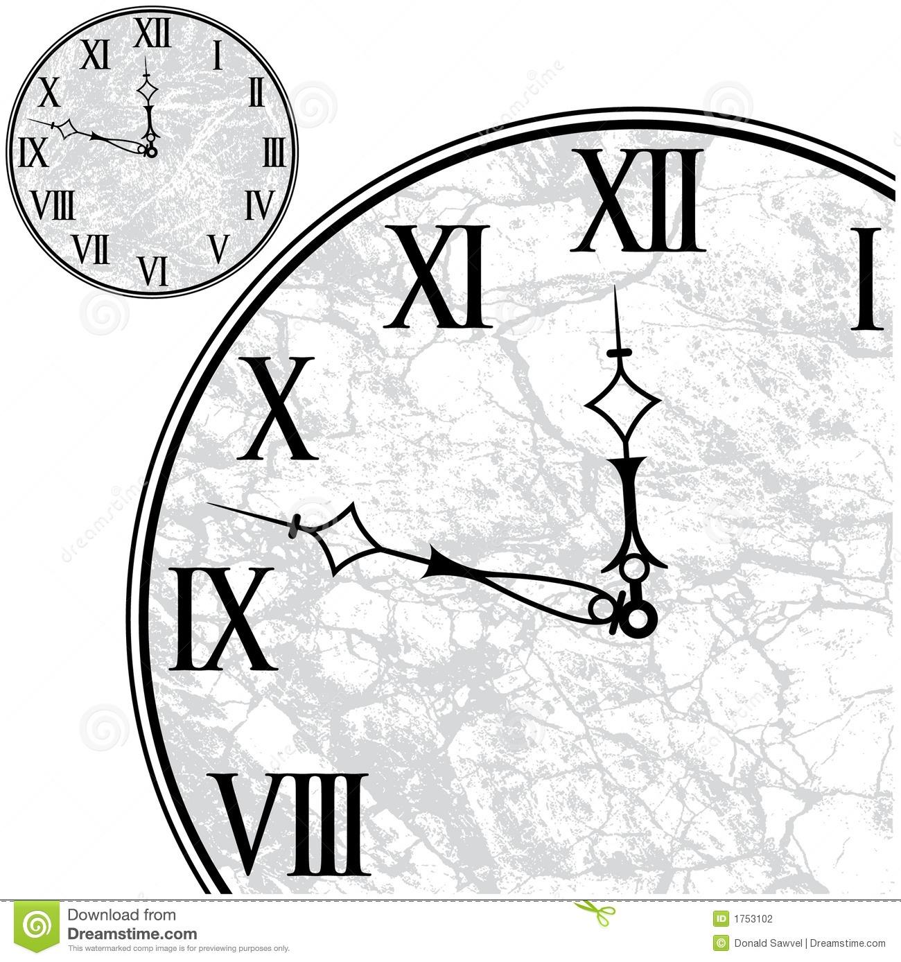 Visage D'horloge Avec Les Chiffres Romains Illustration à Dessin Chiffre Romain