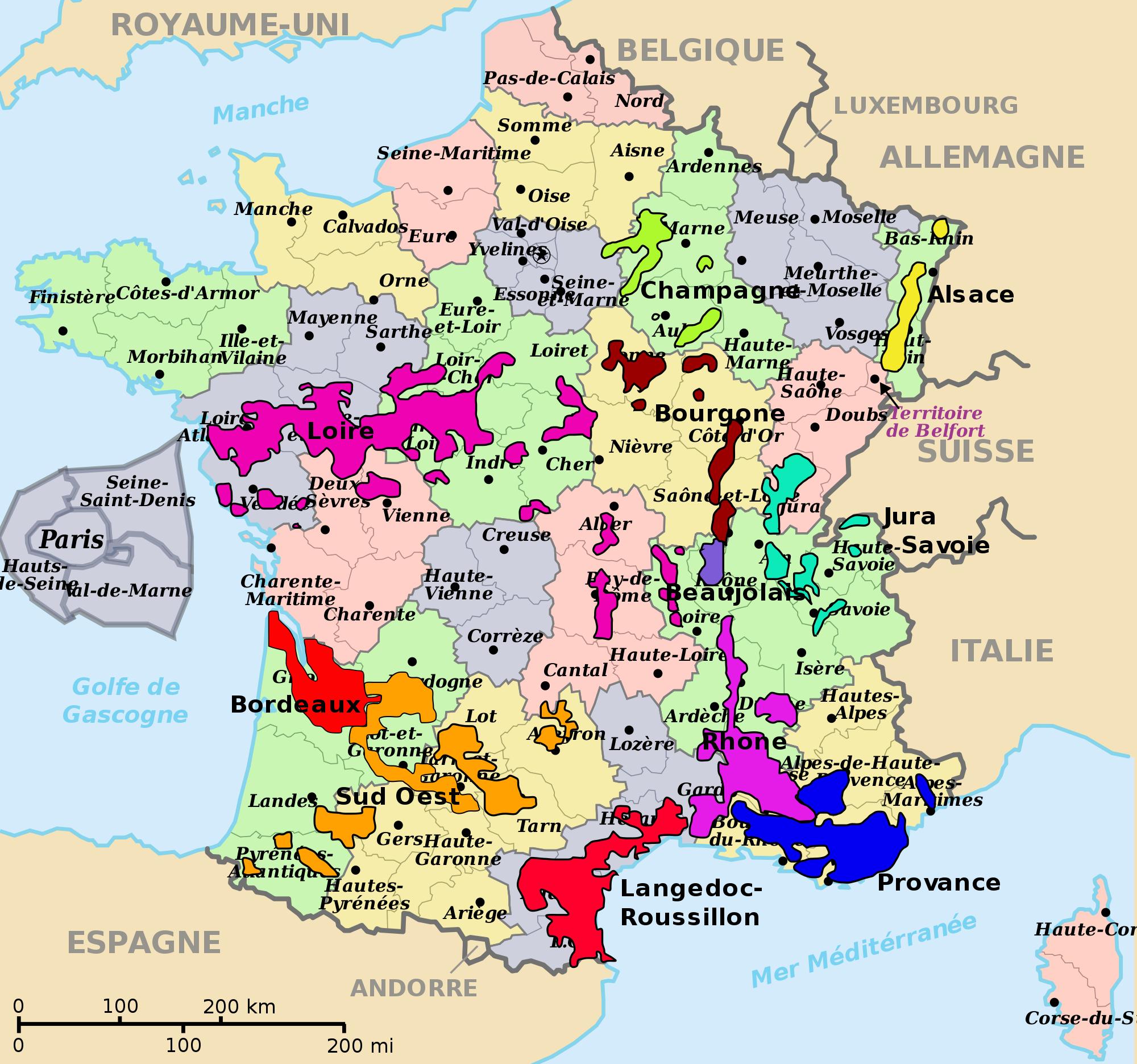 Viticulture Of France | France Wine, French Wine Regions intérieur Liste Region De France