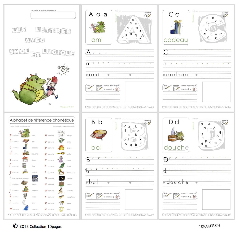 Vivre Et Écrire L'alphabet - Collection 10Pages avec Ecrire L Alphabet