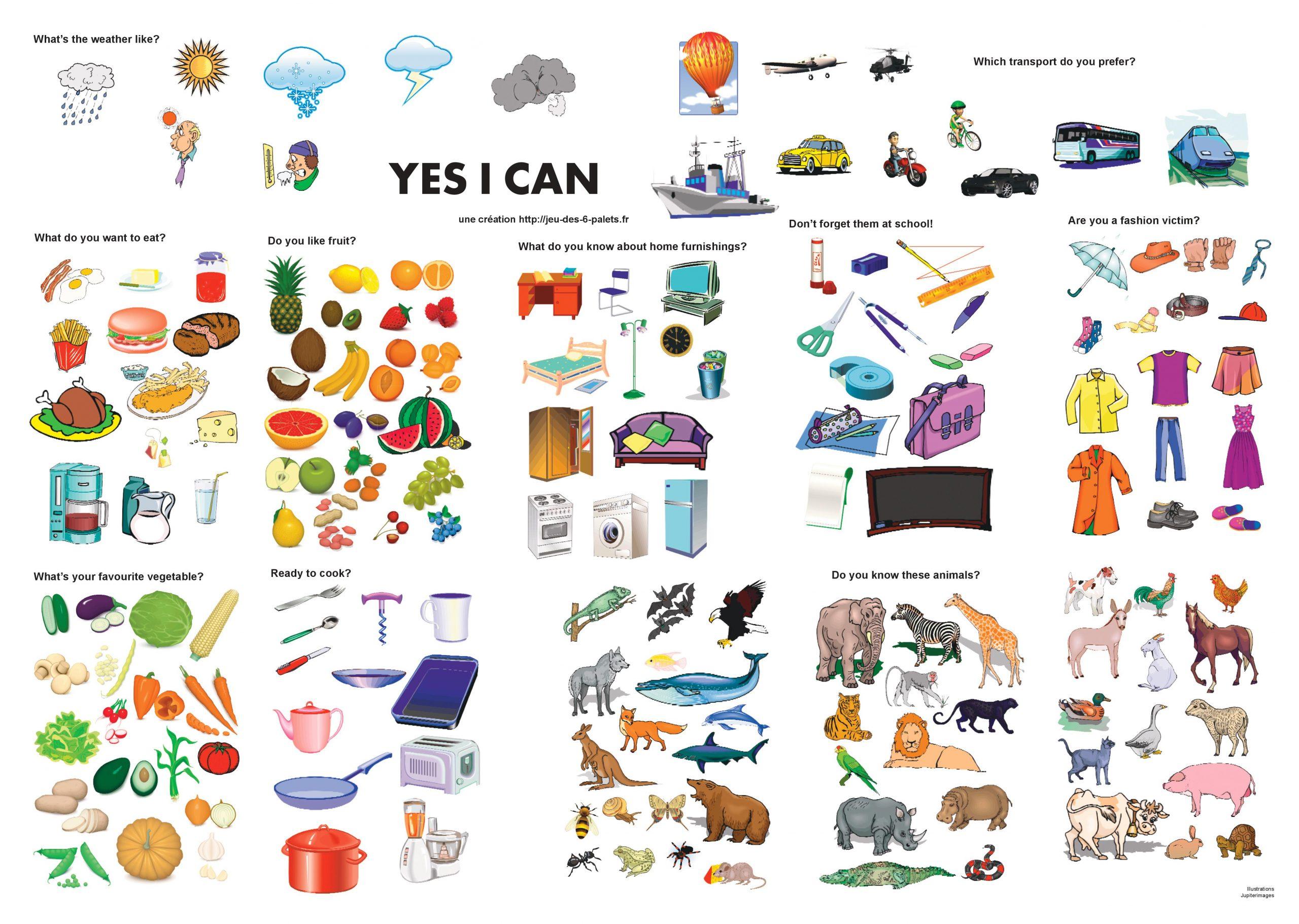 Vocabulaire Anglais, Posters Et Vidéos Pour Le Cycle 3 - Le intérieur Jeux En Anglais A Imprimer