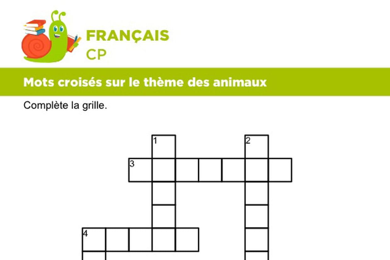 Vocabulaire, Mots Croisés Sur Le Thème Des Animaux Série 1 pour Mots Croises En Ligne