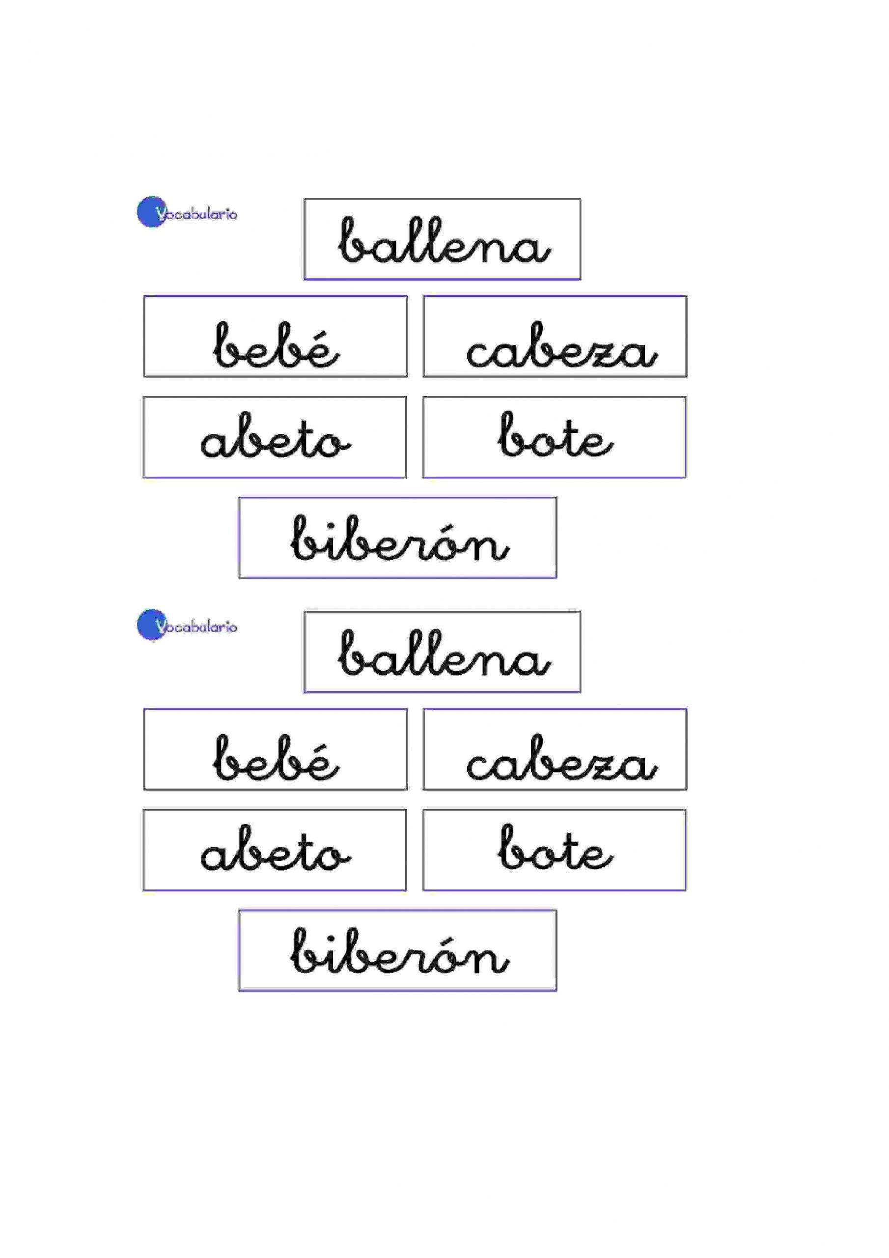 Vocabulaire Pour Apprendre L'espagnol Pour Enfants De à Exercices Maternelle À Imprimer