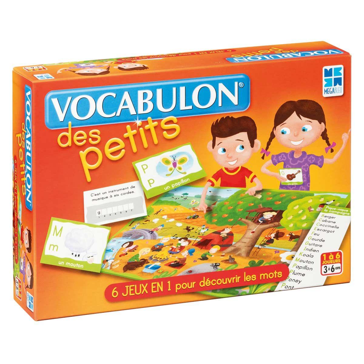 Vocabulon Des Petits Megableu | Cadeau Enfant 3 Ans, Jeux Et pour Jeux Pour Petit De 3 Ans