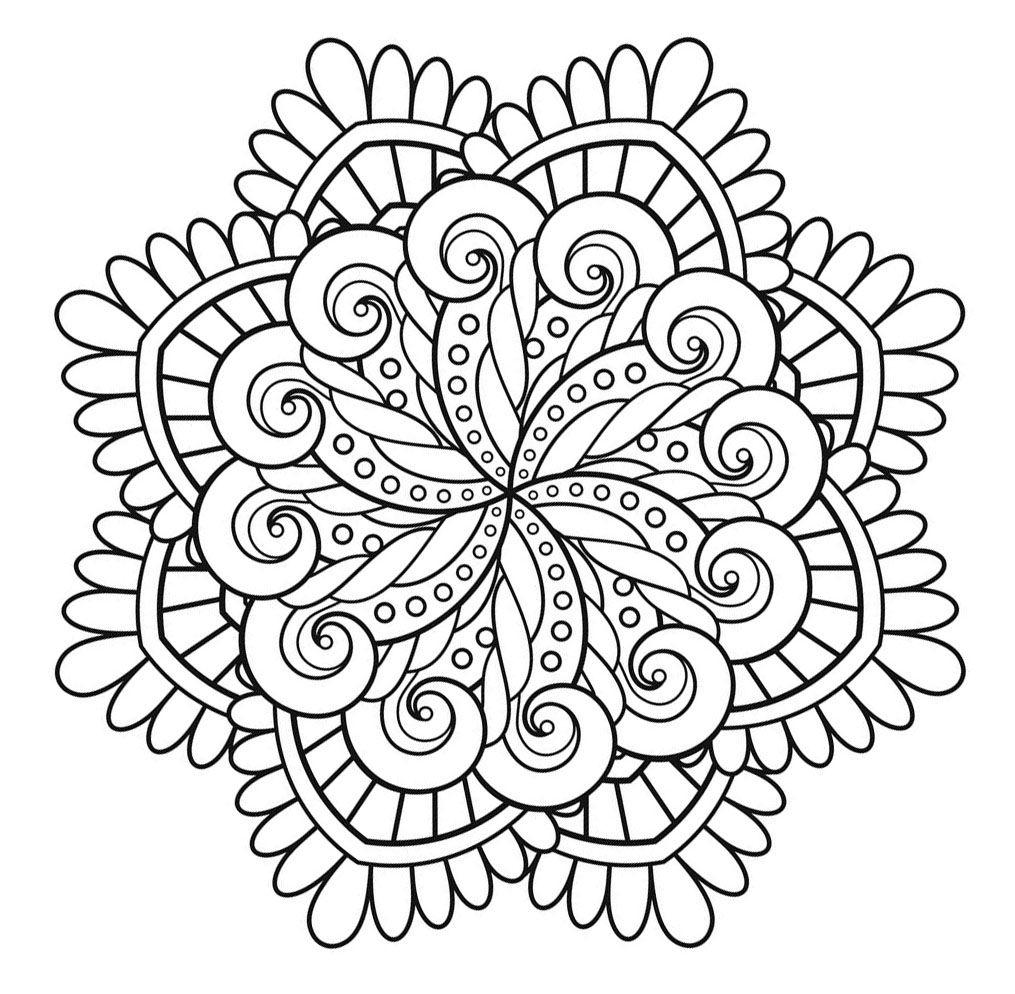 Voici Des Mandalas Difficiles Pour Adultes À Imprimer serapportantà Mandala À Colorier Adulte