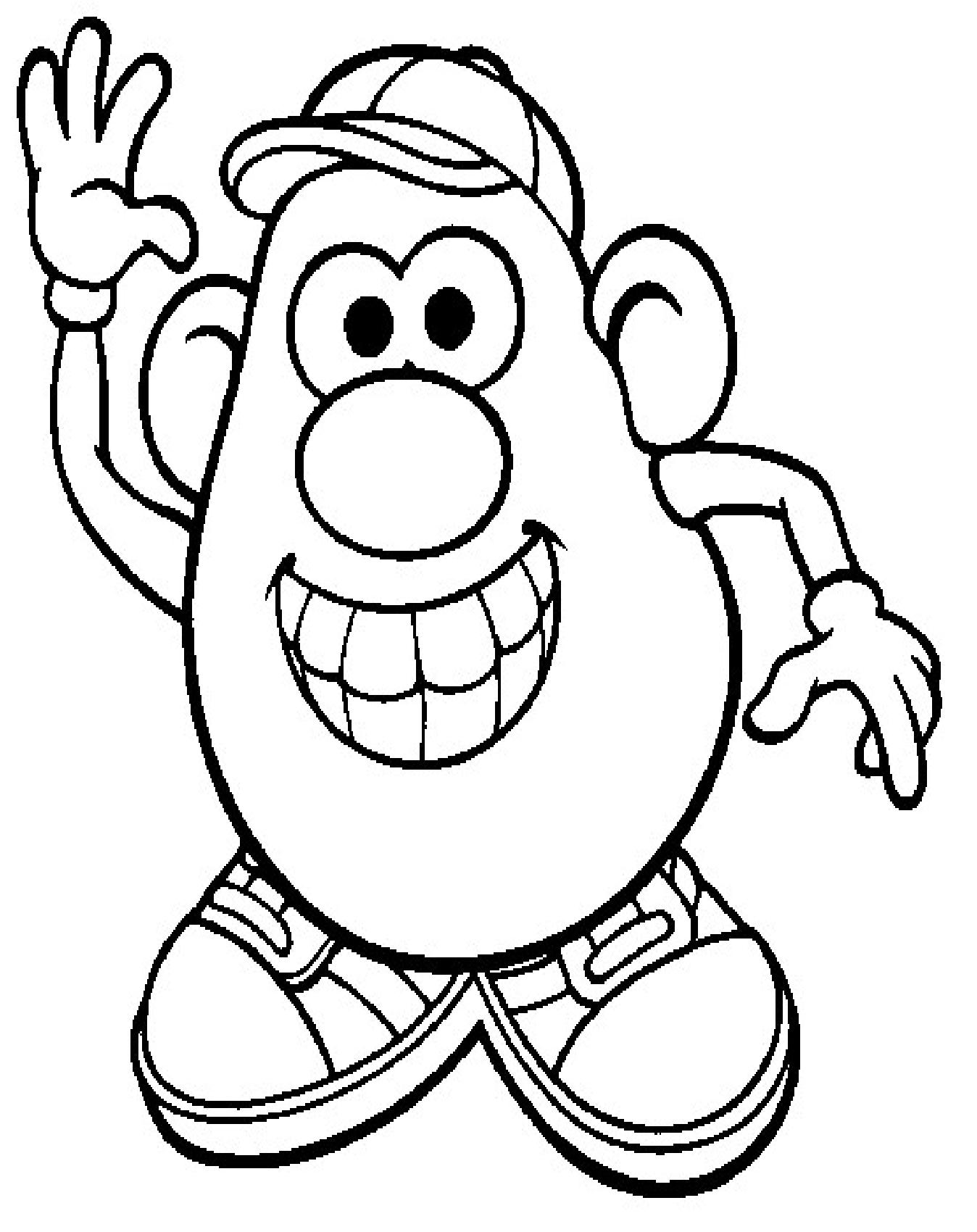 Voici Le Gabarit Et Les Différents Éléments De Monsieur avec Coloriage Mr Patate