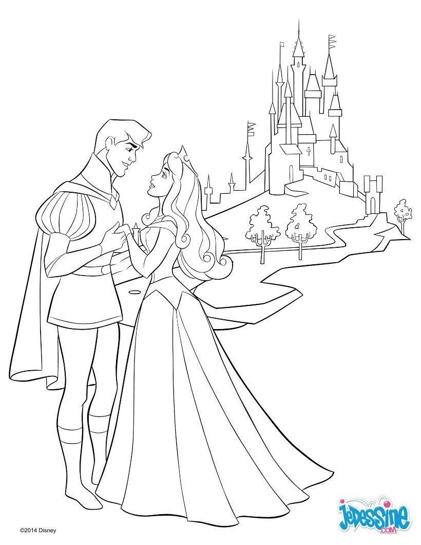 Voici Un Beau Coloriage De Aurore, La Princesse Disney De La concernant Chateau Princesse Dessin