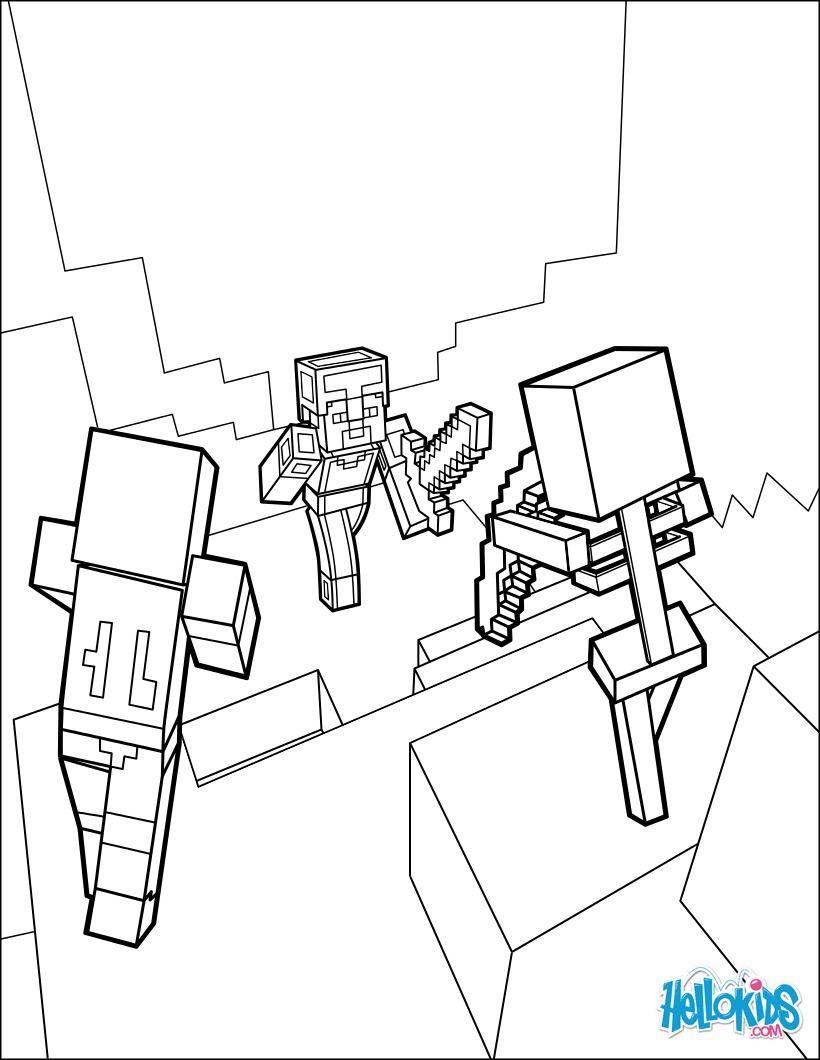 Voici Un Très Joli Coloriage Sur Le Jeu Minecraft. Un Dessin serapportantà Faire Coloriage Gratuit Sur Ordinateur