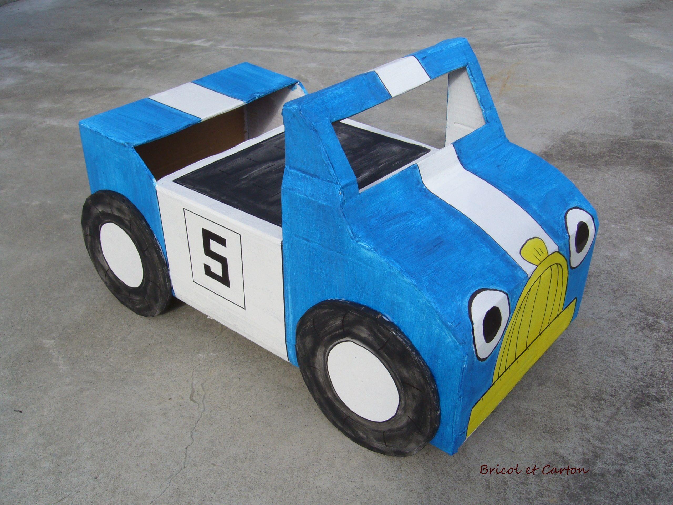 Voiture De Course Pour Enfant En Carton - Bricol Et Carton tout Jeux De Course De Voiture Pour Enfan