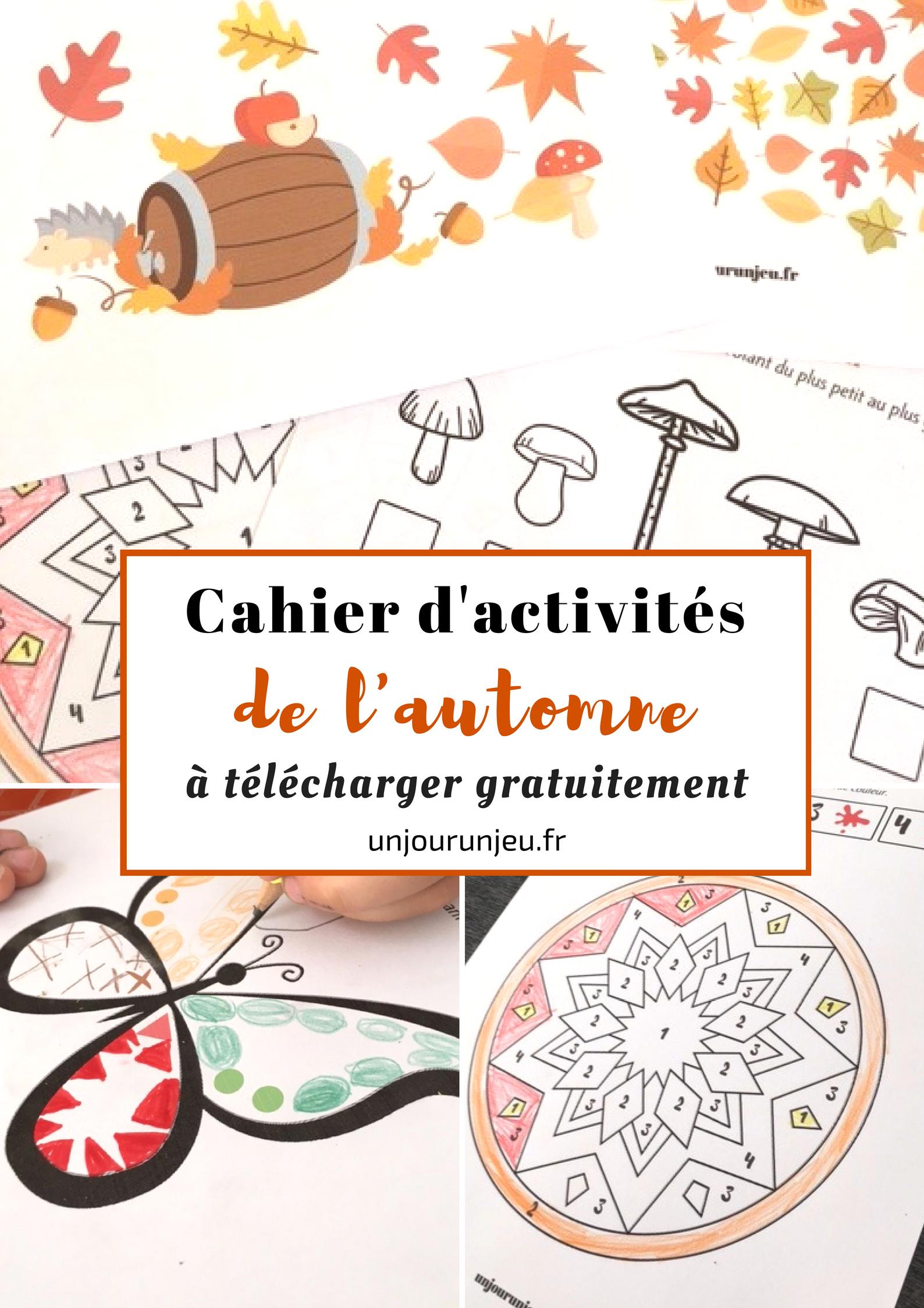 Votre Cahier D'activités De L'automne À Télécharger Gratuitement encequiconcerne Cahier D Activité A Imprimer