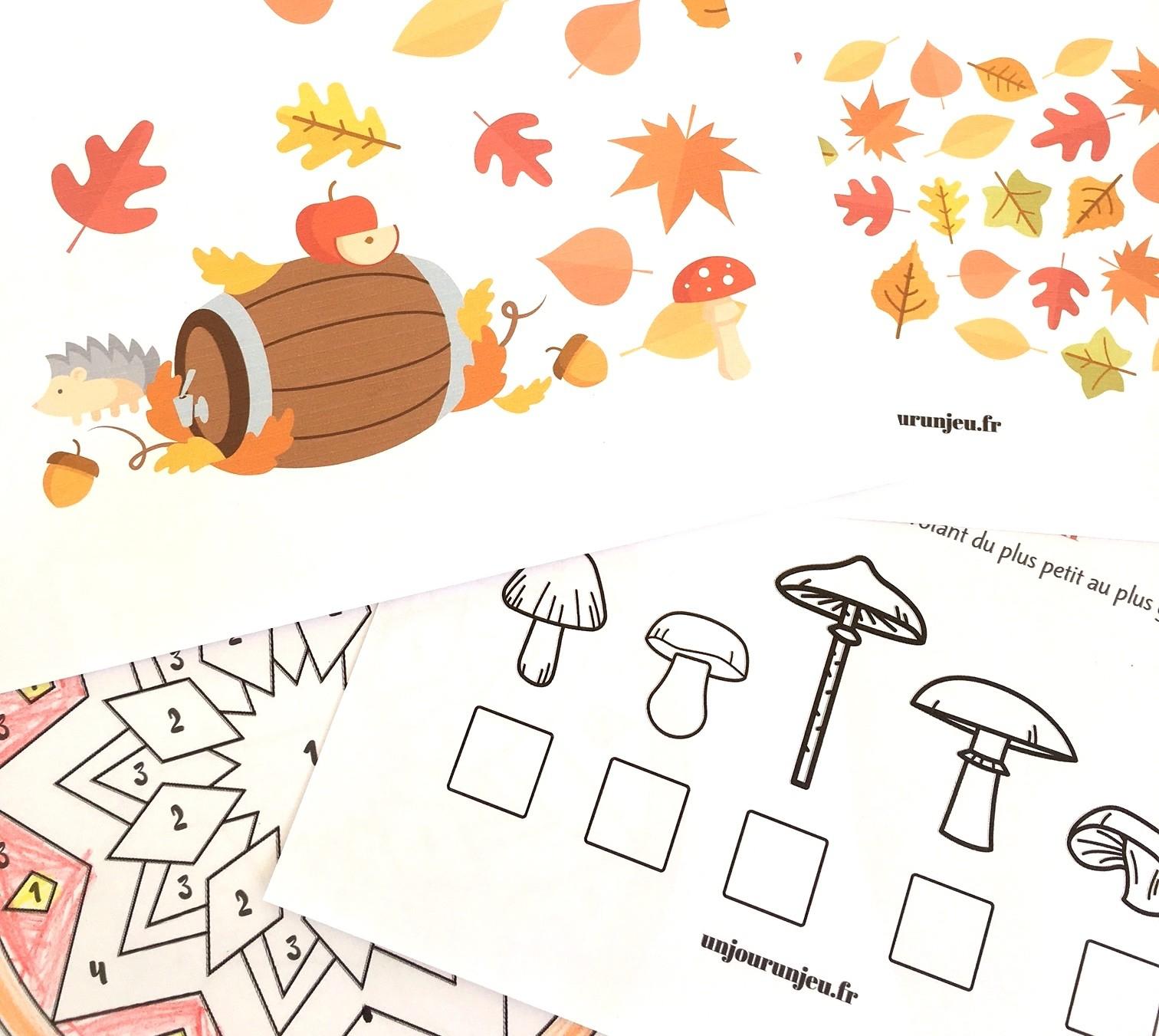 Votre Cahier D'activités De L'automne À Télécharger Gratuitement tout Jeux Bébé 2 Ans Gratuit A Telecharger