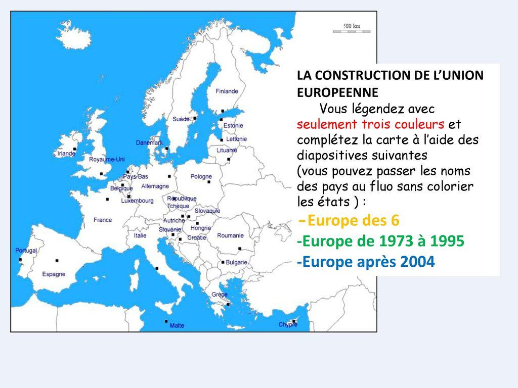 Vous Collez Cette Fiche À Gauche - Ppt Video Online Télécharger encequiconcerne Carte Construction Européenne