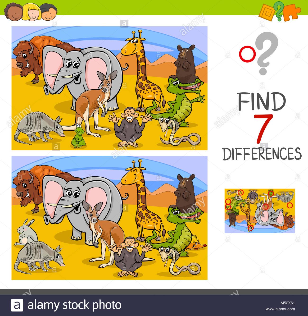 Vous Pouvez Chercher Jeu Des Différences Avec Les Animaux destiné Chercher Les Differences