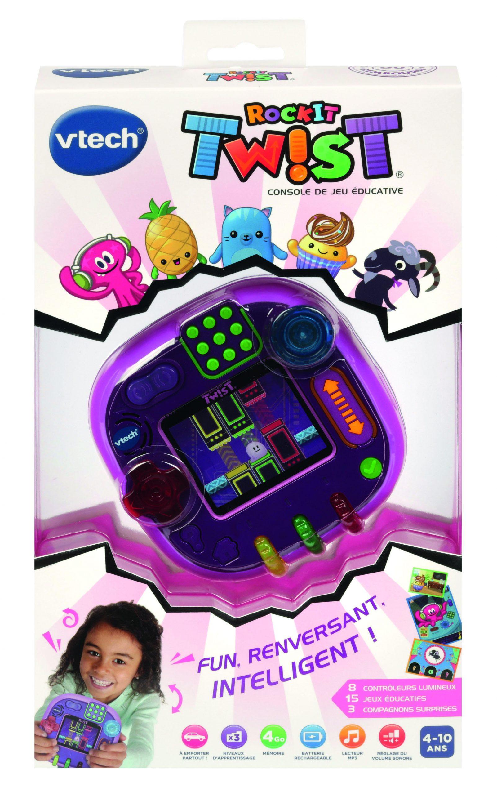 Vtech - Console Rockit Twist - Rose Translucide pour Jeux Educatif 10 Ans