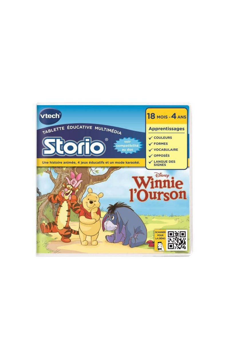 Vtech - Jeu Éducatif Storio 2 - Wi , Vtech - Jeu Éducatif Storio 2 - Winnie  L'ourson Tati.fr avec Jeux Educatif 2 Ans