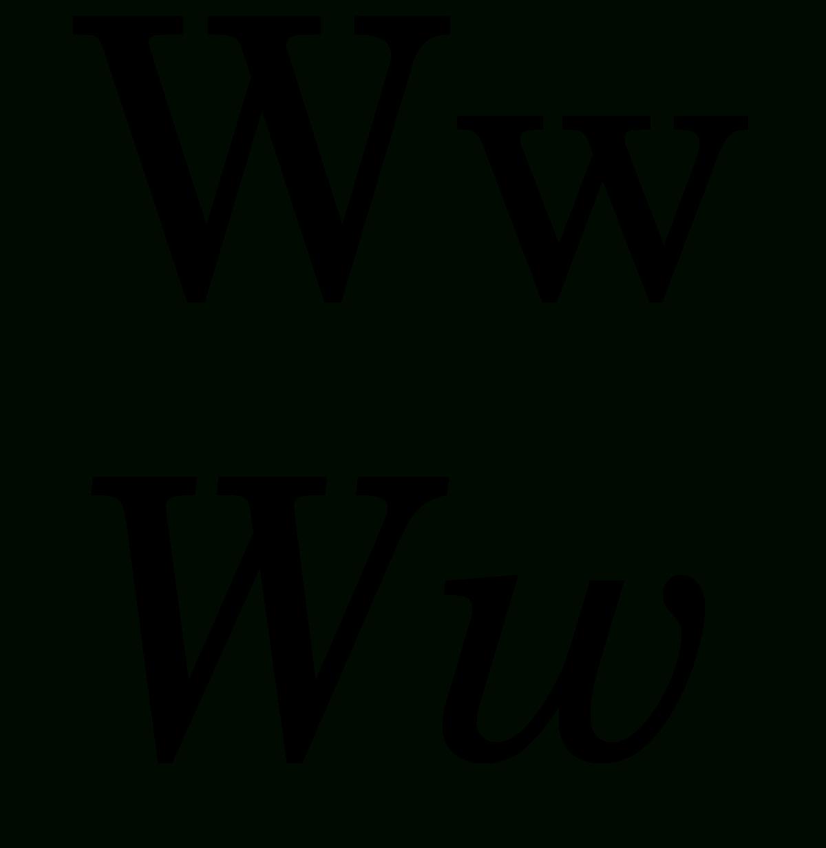 W (Lettre) — Wikipédia serapportantà Comment Écrire Les Lettres De L Alphabet Français