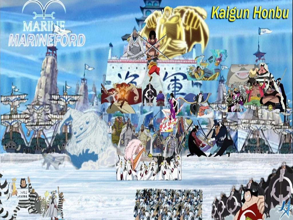 Warning!! Marine Admiral!! - One Piece Charaters Fond D destiné Dessin Animé De One Piece