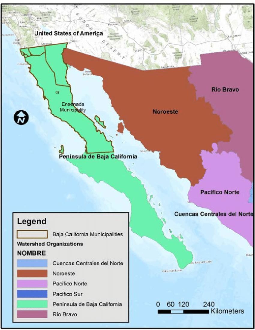 Watershed Organization Region 1: Baja California. Watershed pour Nombre De Region