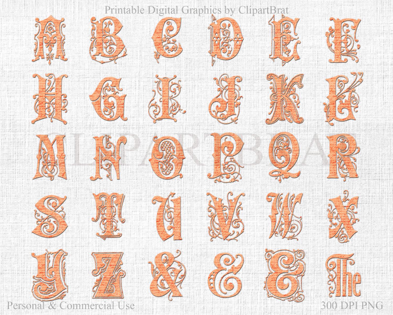 Wedding Alphabet Clipart Commercial Use Clip Art French encequiconcerne Alphabet En Script
