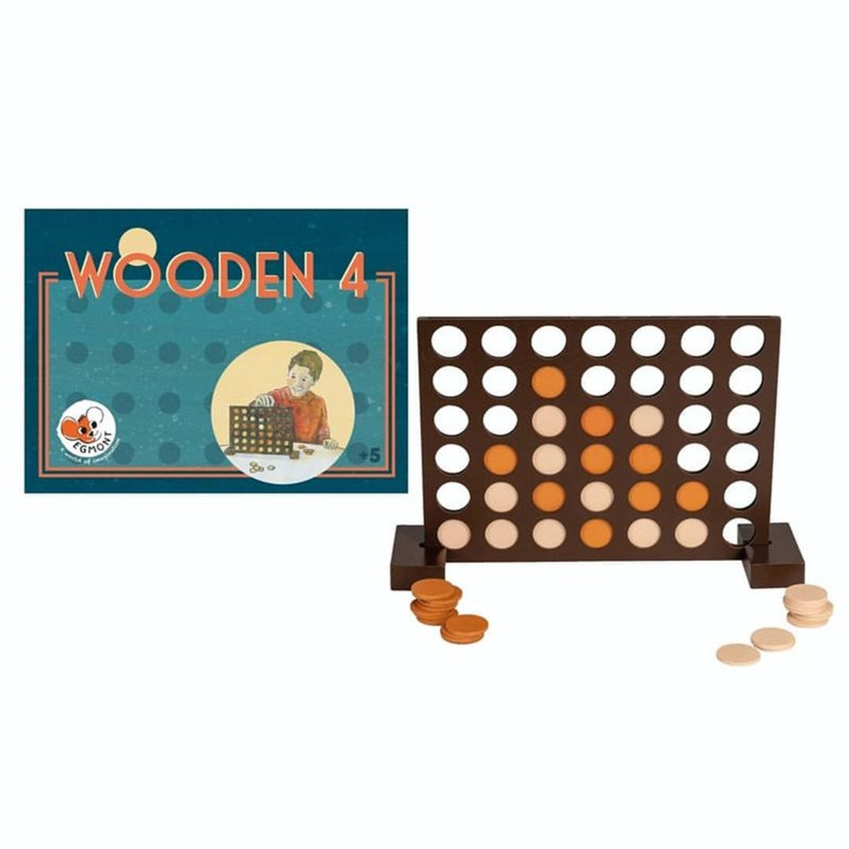 Wooden 4 - Taille : Taille Unique | Jeton Et Relais Colis concernant Puissance 4 A Deux