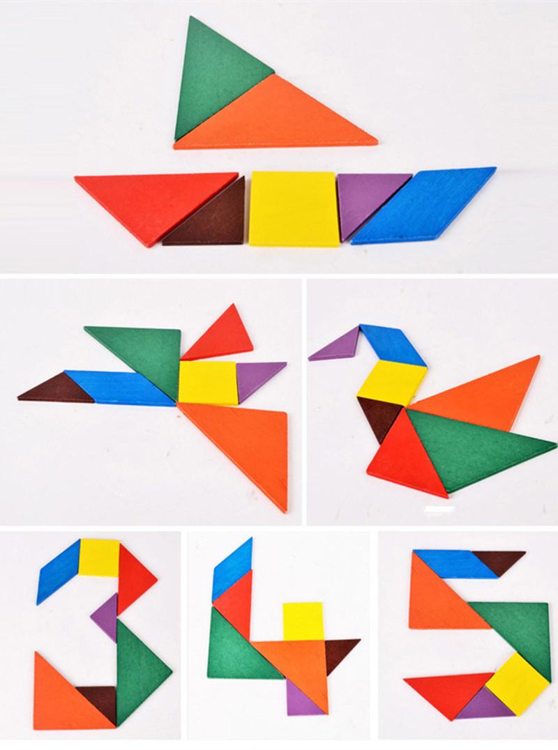 Wooden Tangram Puzzle pour Tangram Simple