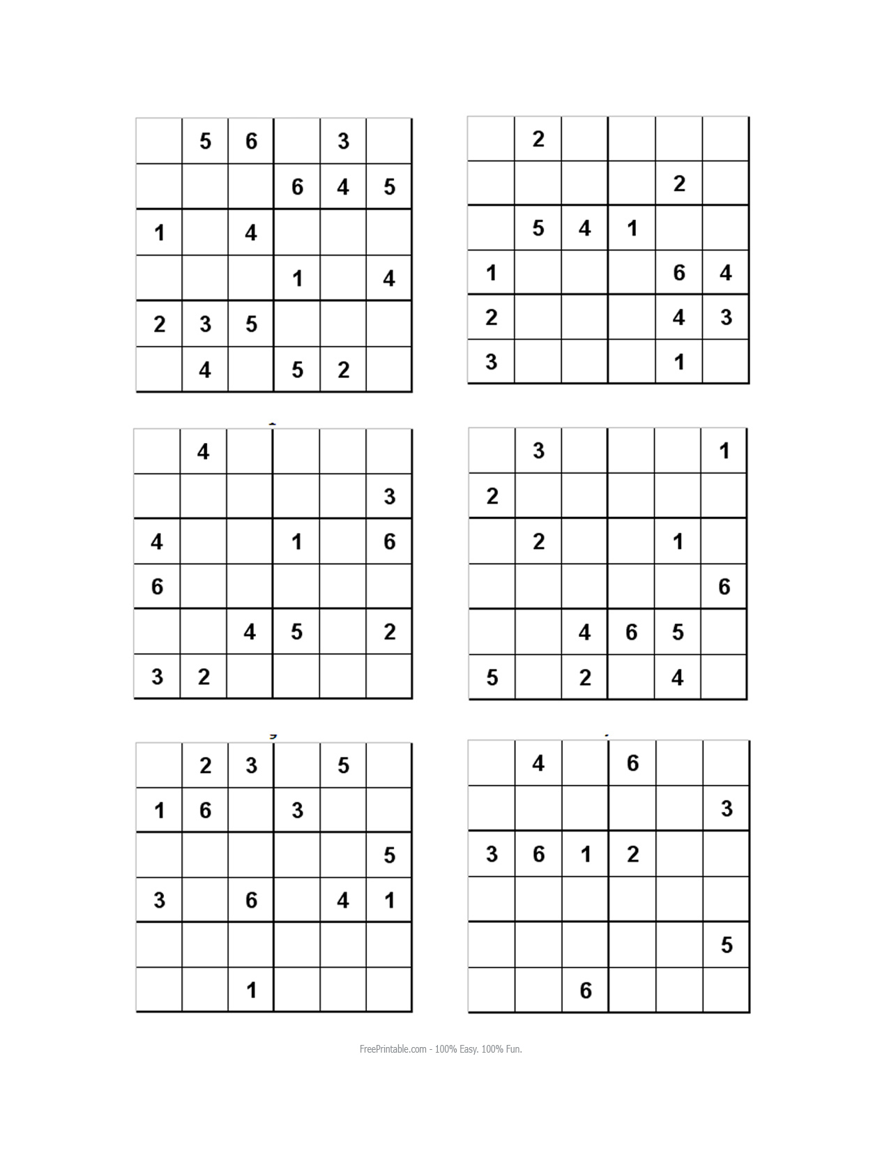 Worksheet Sudoku 6X6 | Printable Worksheets And Activities encequiconcerne Sudoku Gratuit Enfant