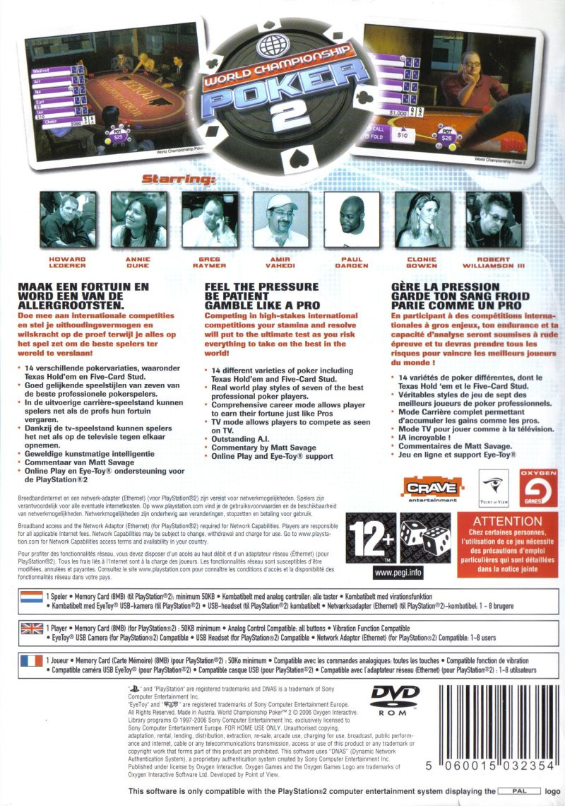 World Championship Poker 2 Featuring Howard Lederer (2005 tout Jeu Memory En Ligne