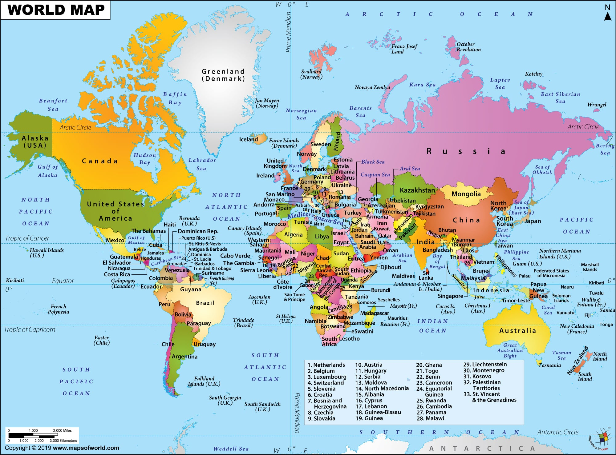 World Map Hd Picture, World Map Hd Image - Maps Of World serapportantà Carte Europe 2017