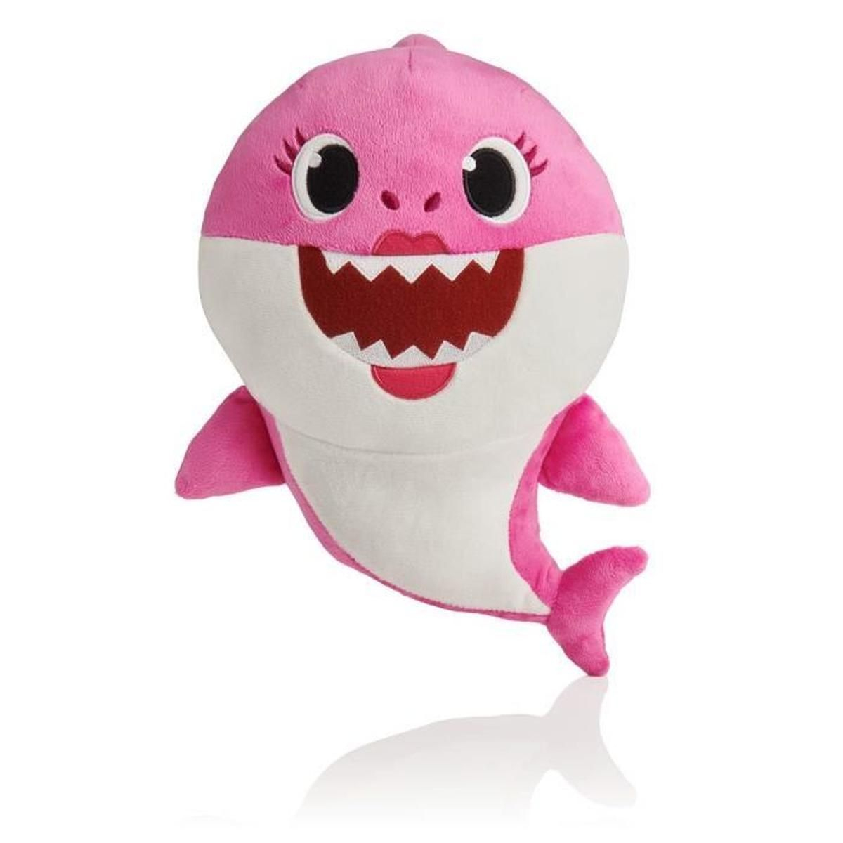 Wow Wee Baby Shark Song Poupée Maman Requin Rose Peluche Douce (Anglais) concernant Jeu De Societe Requin